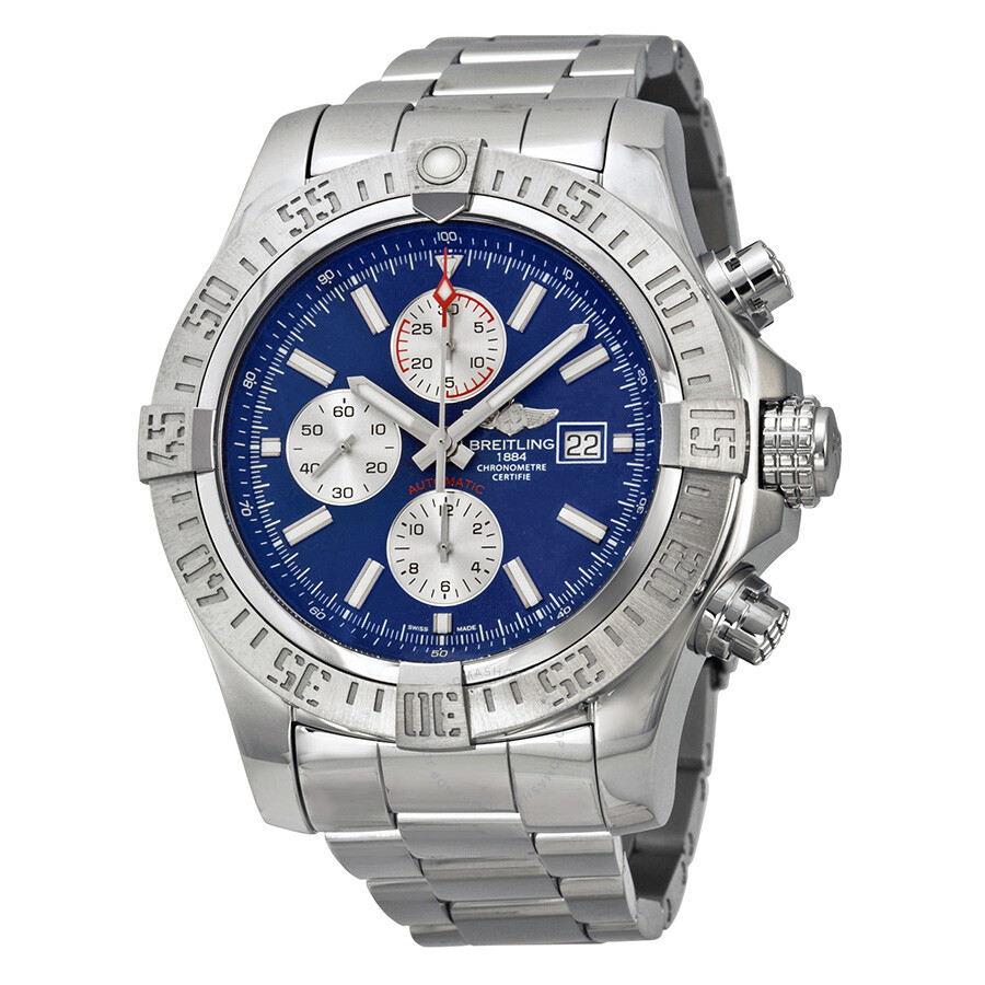 8f7b5ef6e24 Breitling Super Avenger II Blue Dial Chronograph Stainless Steel Men s Watch  A1337111-C871SS ...