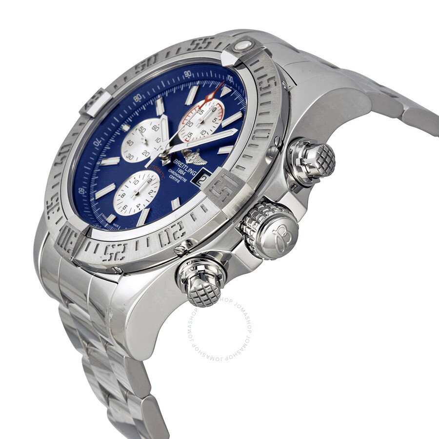 bf9227378d6 ... Breitling Super Avenger II Blue Dial Chronograph Stainless Steel Men s  Watch A1337111-C871SS ...