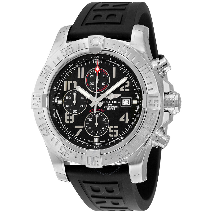 Breitling super avenger ii rubber men 39 s watch a1337111 bc28bkpt3 super avenger avenger for Avengers watches