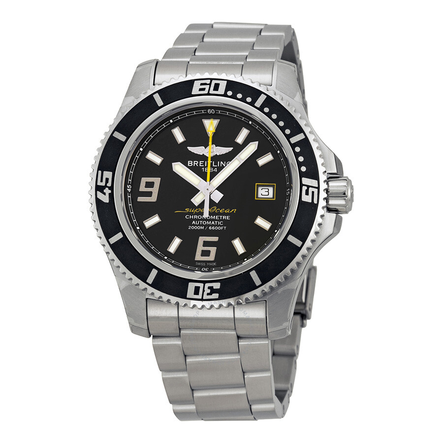 ab80439399b Breitling Superocean 44 Automatic Black Dial Men s Watch A1739102-BA78SS  Item No. A1739102 BA78SS