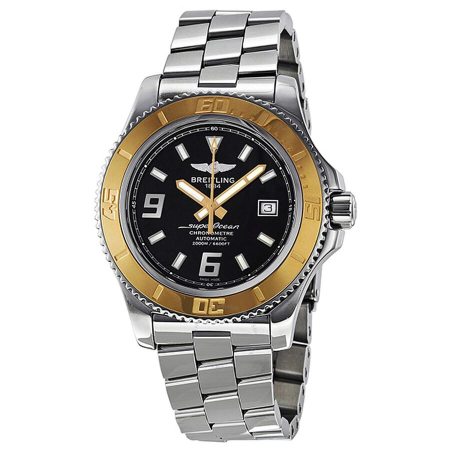 5b57211d636 Breitling Superocean 44 Automatic Black Dial Stainless Steel Men s Watch  C1739112-BA77 Item No. C1739112-BA77SS