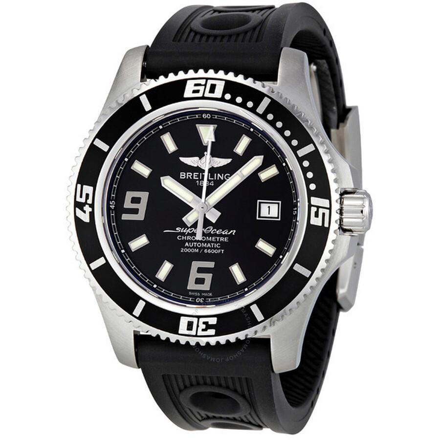 400374e3a38 Breitling Superocean 44 Automatic Black Dial Black Rubber Men s Watch  A1739102-BA77BKOR Item No. A1739102 BA77BKOR