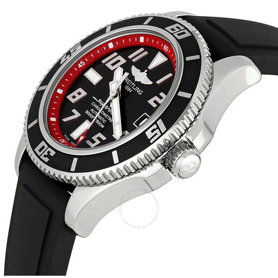 breitling superocean abyss red dial menu0027s watch