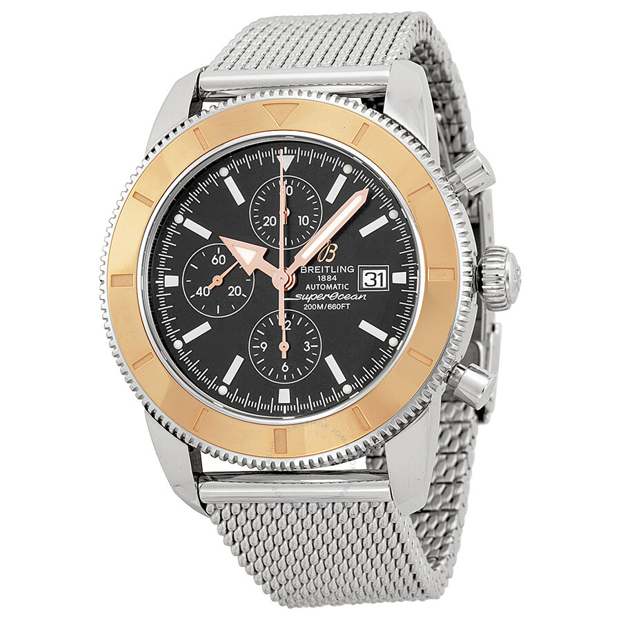 Breitling superocean chronograph black dial automatic men 39 s watch u1332012 b908ss superocean for Breitling automatic
