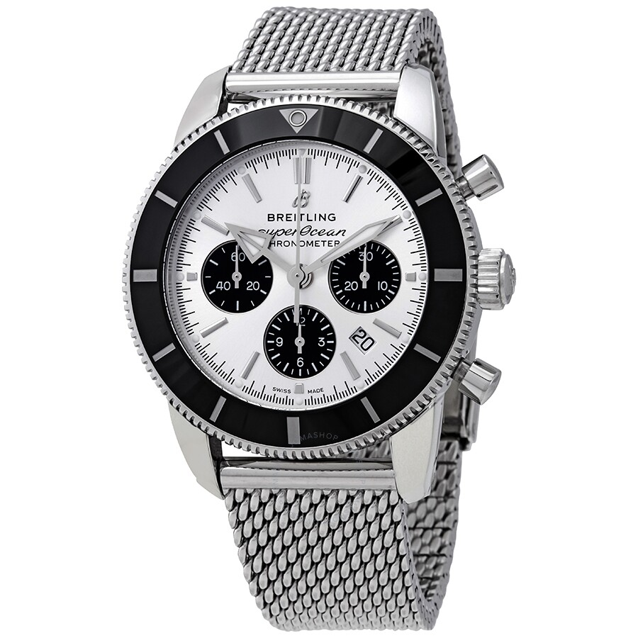 Breitling Superocean Heritage II Chronograph Automatic Chronometer Silver  Dial Men's Watch AB0162121G1A1