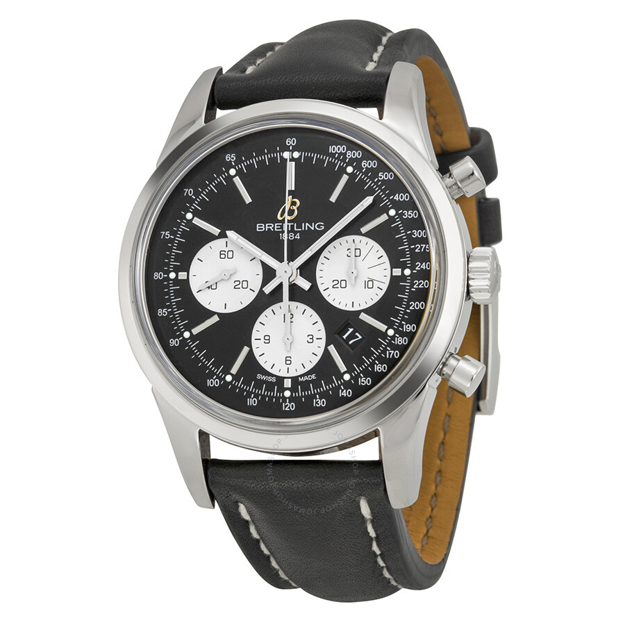 breitling transocean chronograph black s