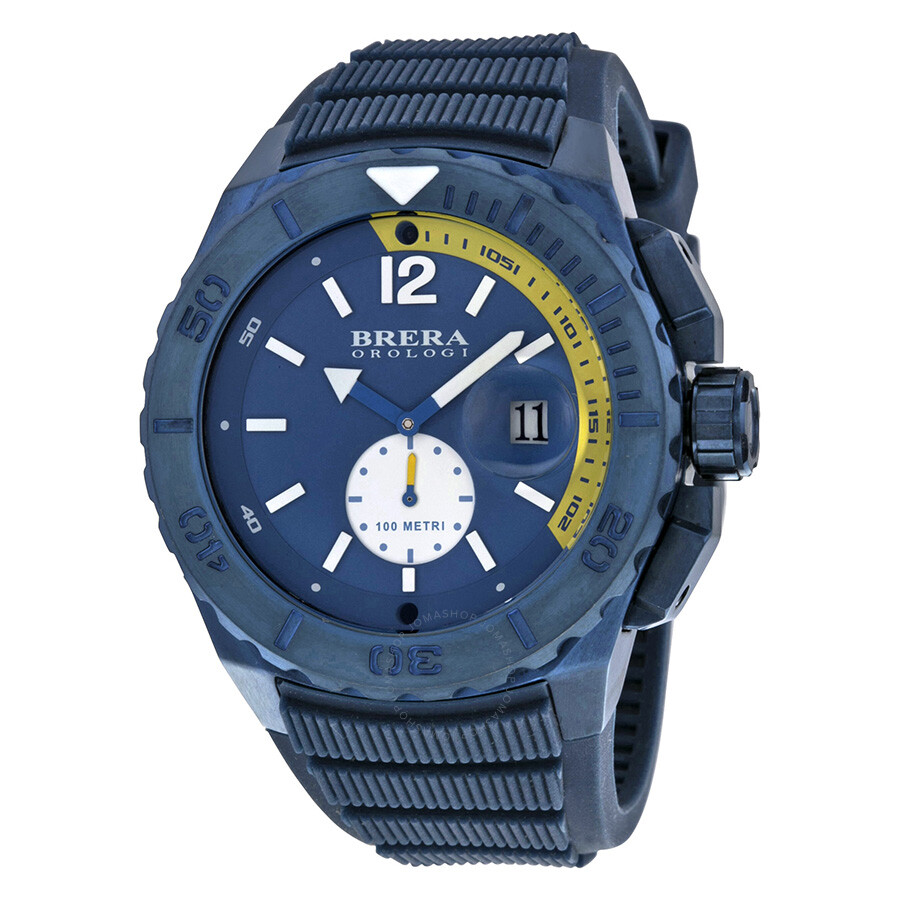578493a59a1 Brera Orologi Aqua Navy Dial Navy Rubber Men s Watch BRAQS4804 ...