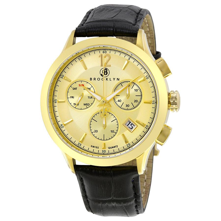 dakota swiss quartz chronograph gold tone