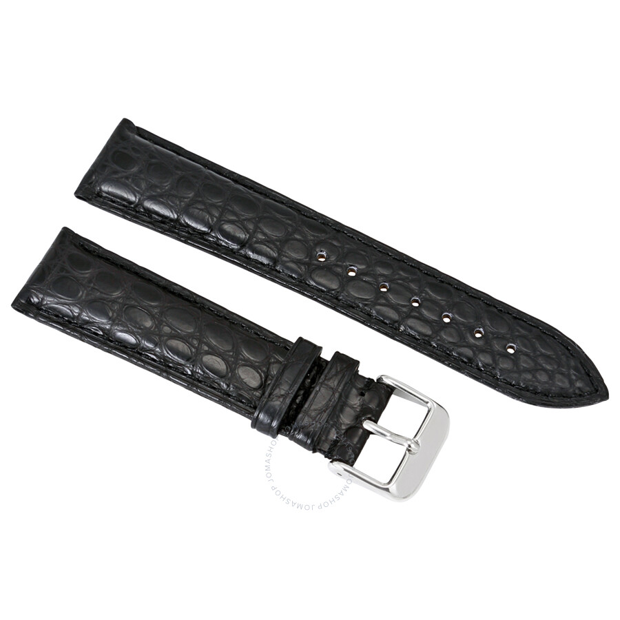 67dd30be8 Brooklyn Watch Strap in Black Alligator Leather - 22 MM Item No. RPOS1A-BK
