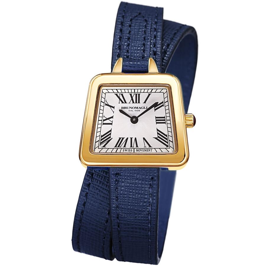 Bruno Magli EMMA 1143 White Dial Ladies Watch 17.181143.