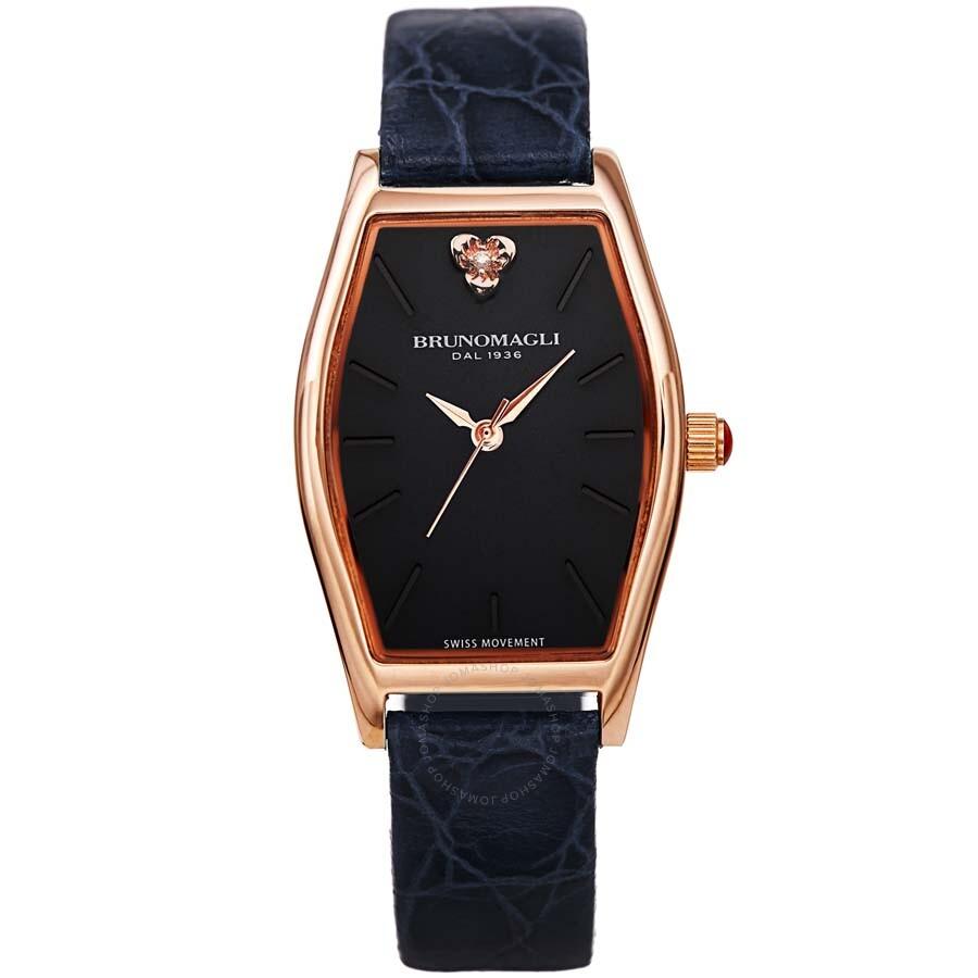 ac1187c75f7 Bruno Magli Women s Chiara 1261 Italian Leather Tonneau Strap Watch  23.181261.RB