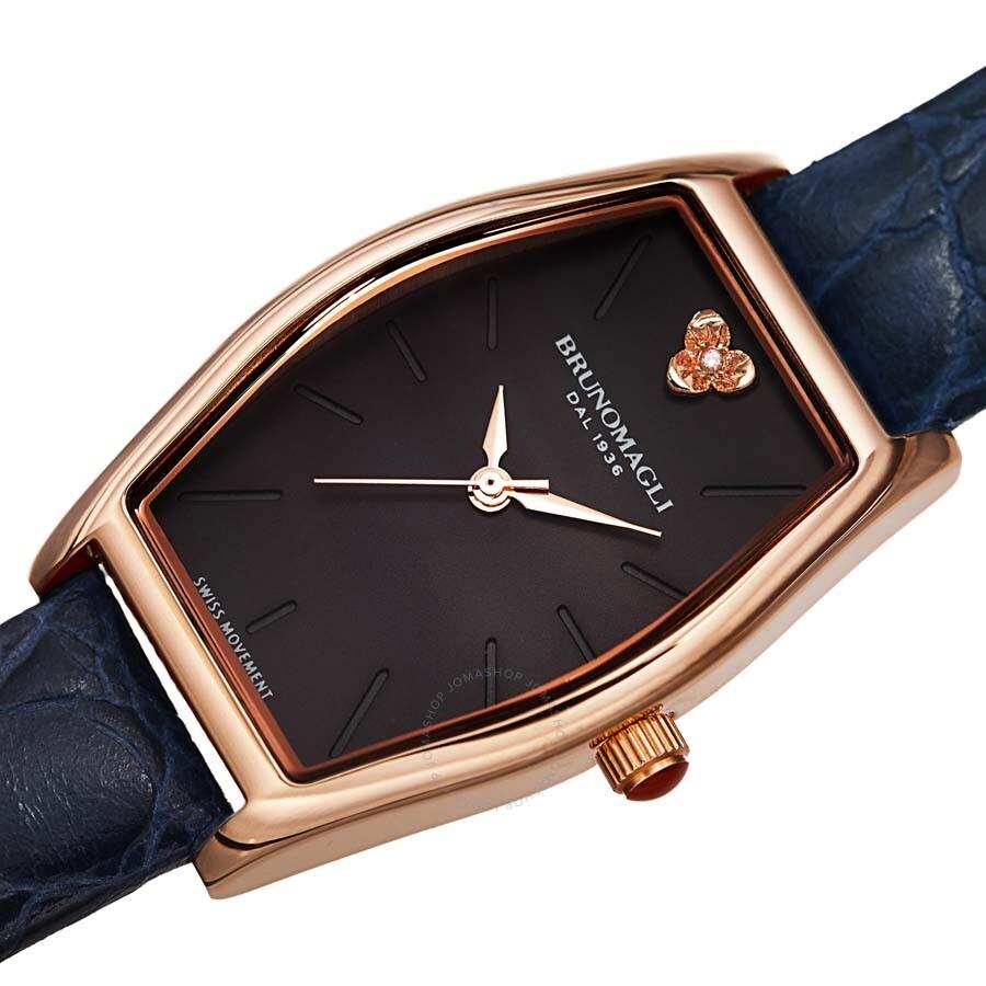 508f79001173 Bruno Magli Women s Chiara 1261 Italian Leather Tonneau Strap Watch  23.181261.RB