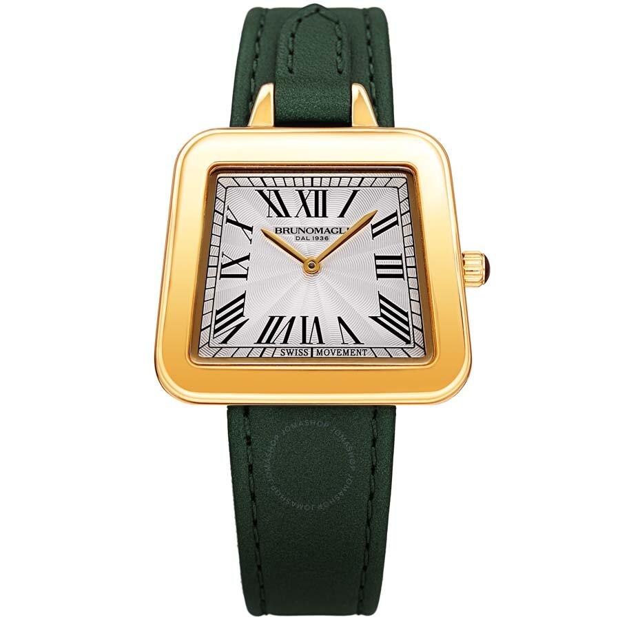 48efd05ab Bruno Magli Women's Emma 1142 Swiss Quartz Italian Leather Strap Watch  17.181142.GH