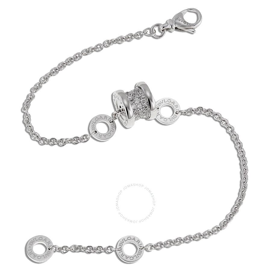 175346ab211 Bvlgari B.Zero1 18K White Gold Diamond Bracelet 350898 - Bvlgari ...