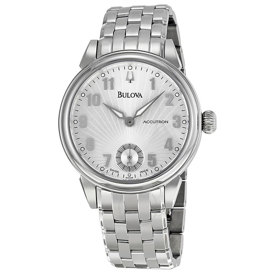 bulova accutron gemini silver dial stainless steel men s watch bulova accutron gemini silver dial stainless steel men s watch 63a28