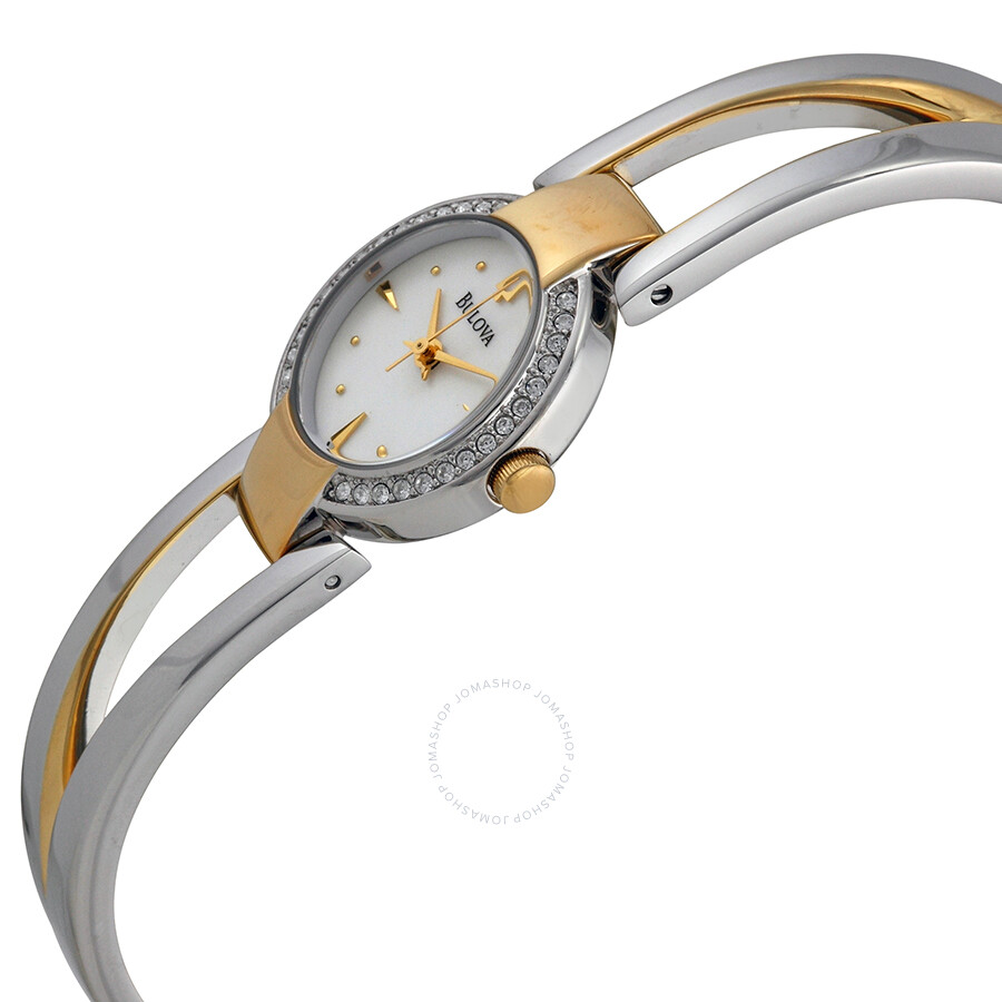 bulova bangle ladies watch 98v08 bangle bulova watches jomashop