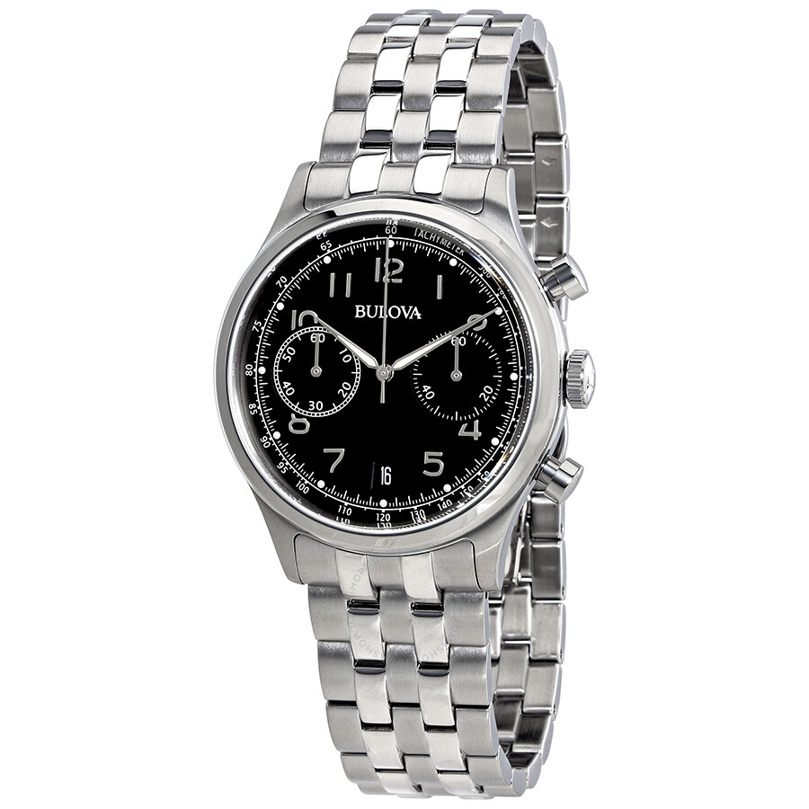 Bulova chronograph black dial men 39 s watch 96b234 bulova watches jomashop for Watches bulova