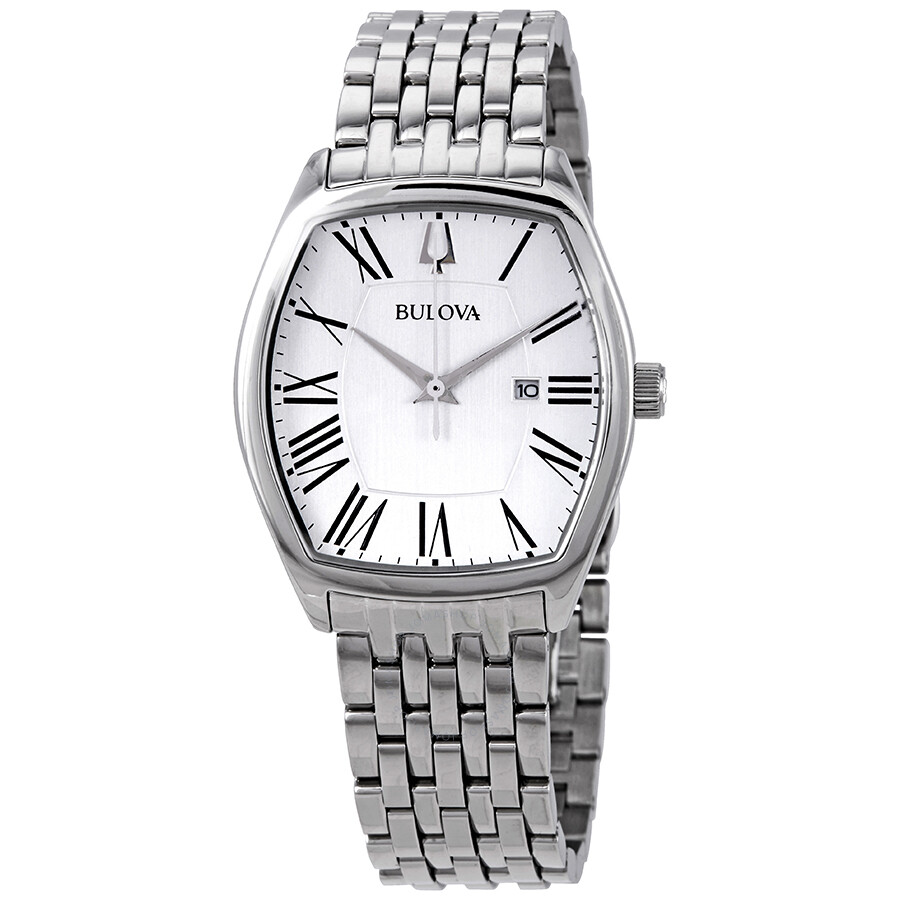 Bulova Classic Ambassador Silver Dial Stainless Steel Ladies Watch