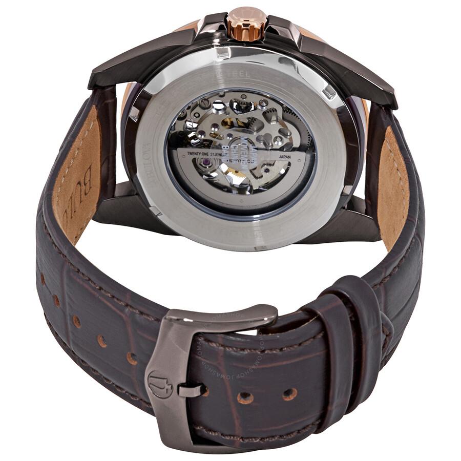 ed020d9dc Bulova Classic Automatic Skeleton Dial Men's Watch 98A165 - Classic ...
