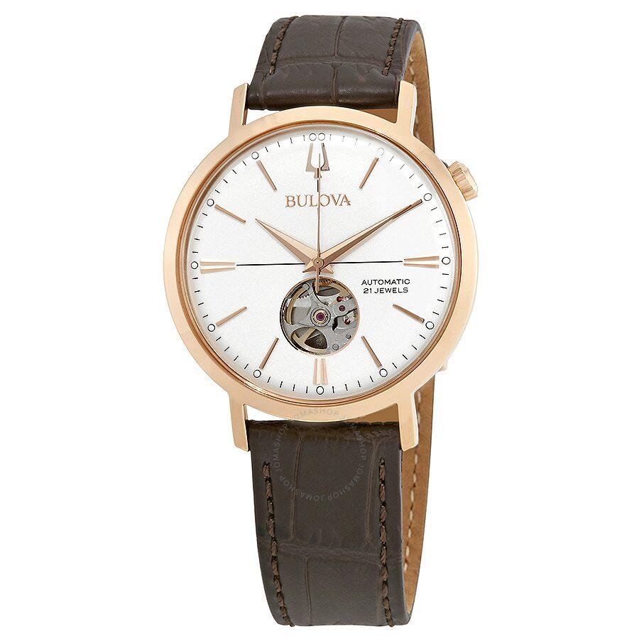0934cd311 Bulova Classic Silver-White Dial Automatic Men's Watch 97A136 ...