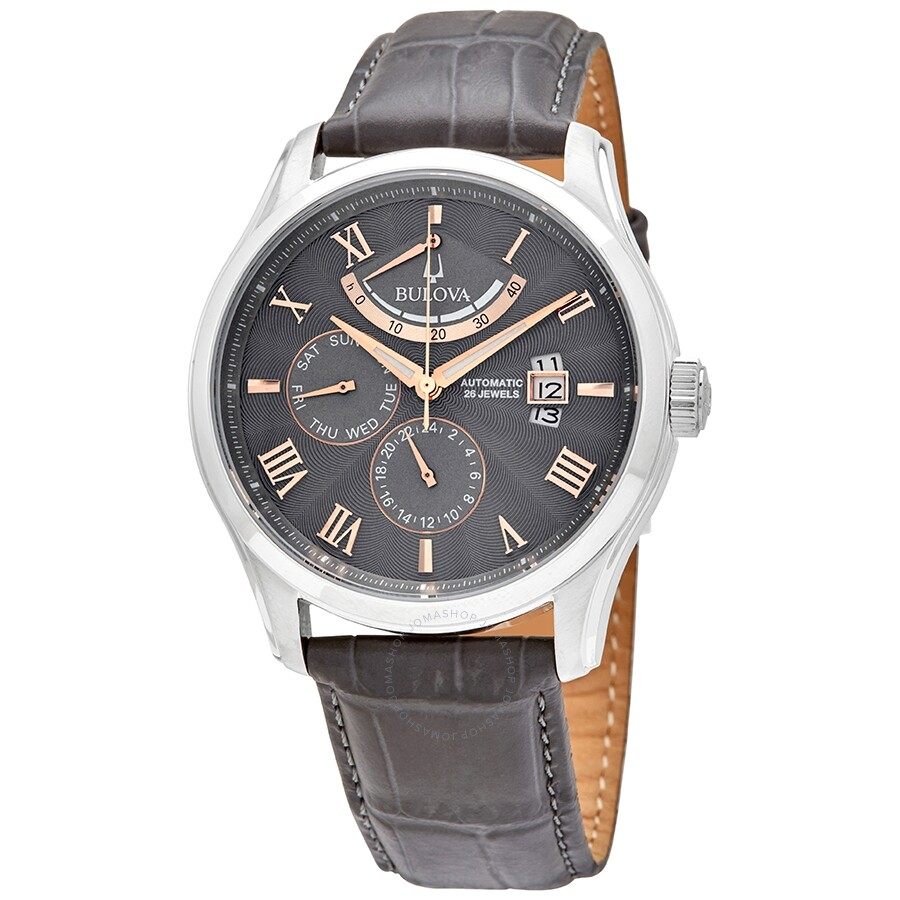 classic-wilton-automatic-grey-dial-mens-watch by bulova