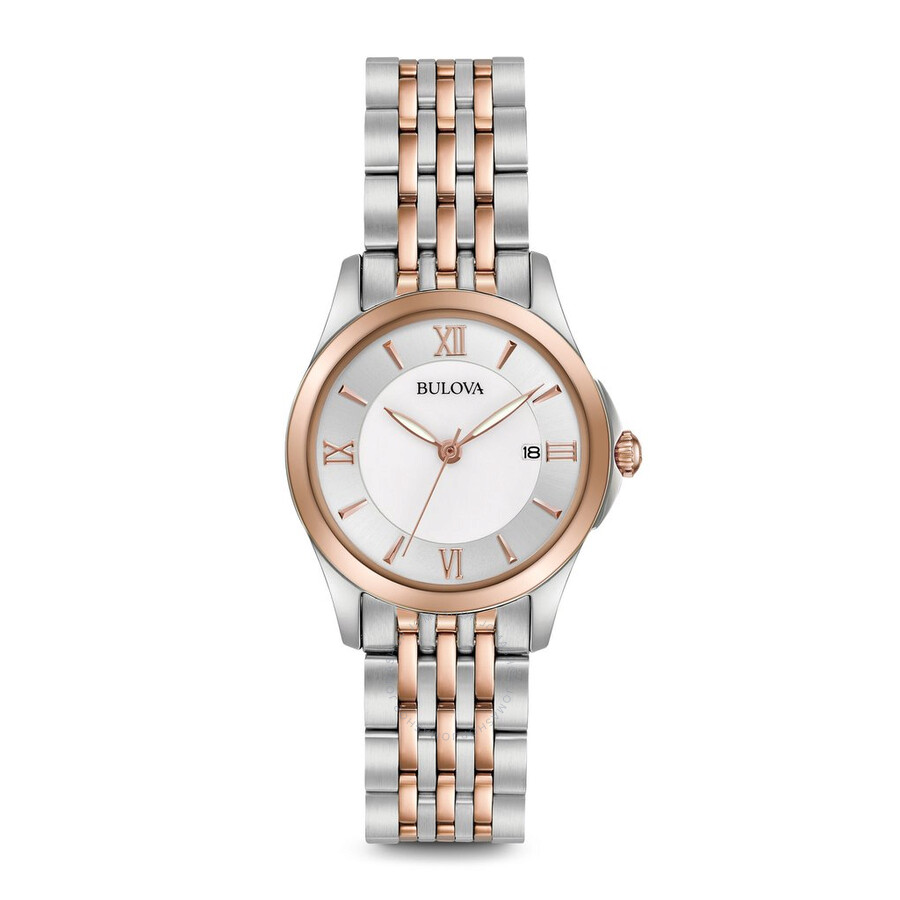 98744ad9d Bulova Classics White Mother of Pearl Dial Ladies Watch 98M125 ...
