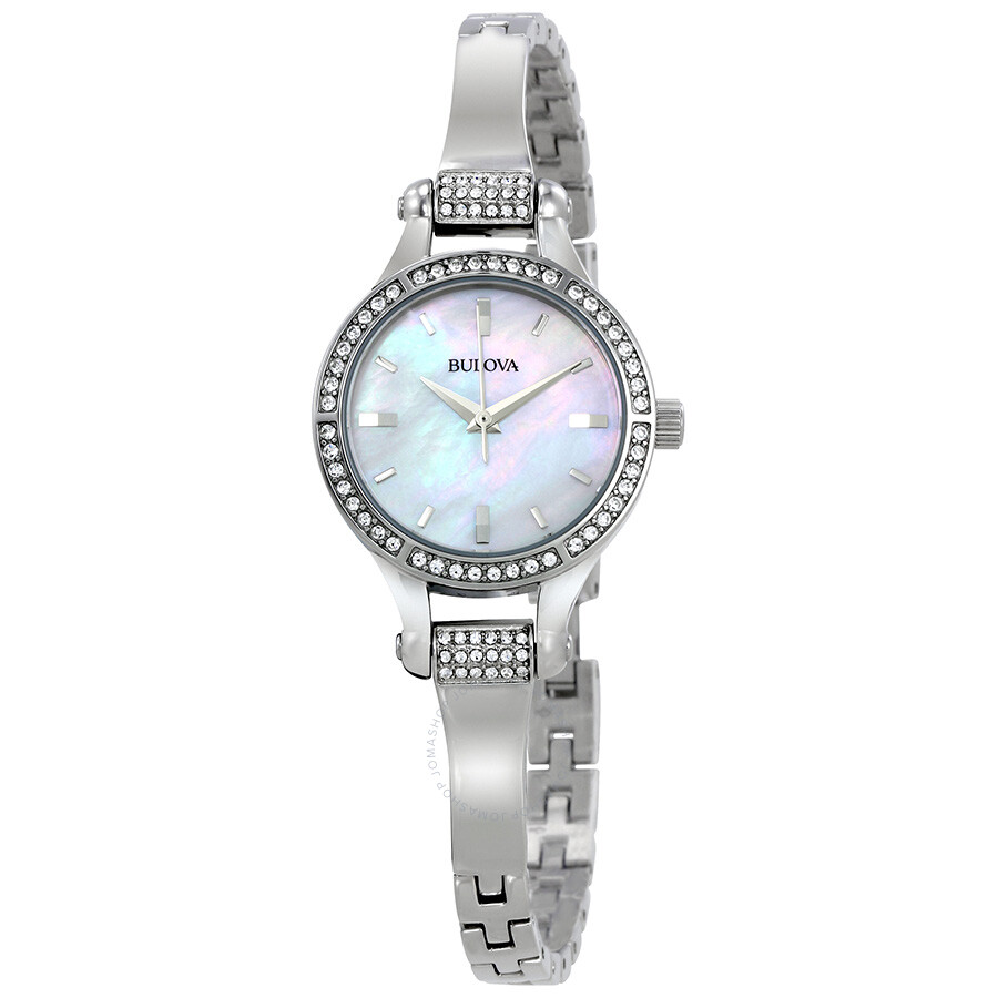 bulova crystal ladies watch 96l128 crystal bulova watches jomashop