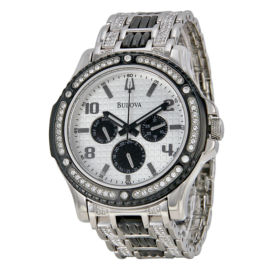 Bulova crystal men 39 s watch 98c005 crystal bulova watches jomashop for Watches bulova