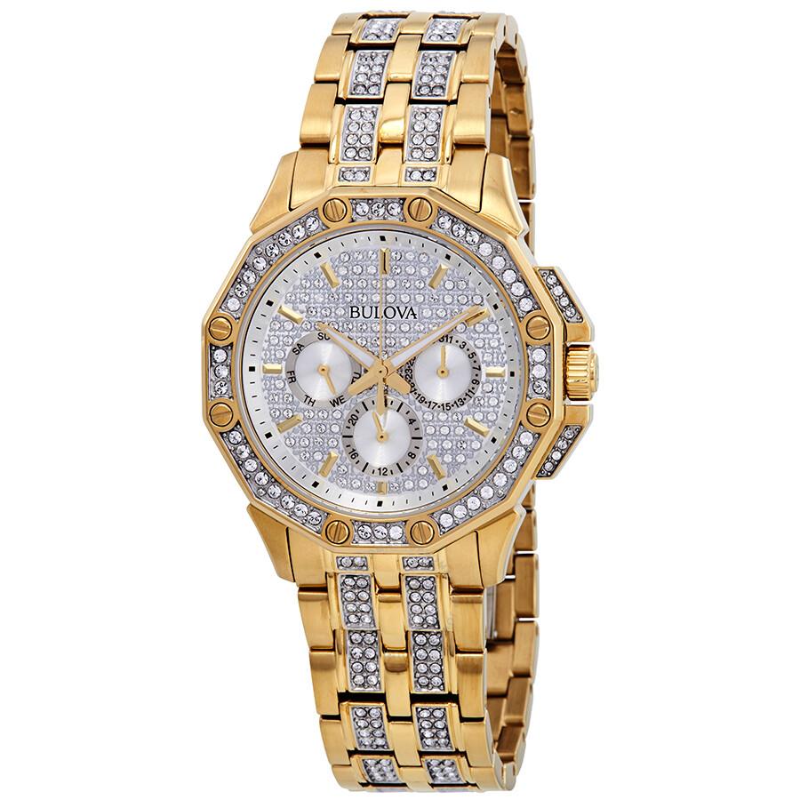 a252449be Bulova Crystal Silver Dial Men's Watch 98C126 - Crystal - Bulova ...