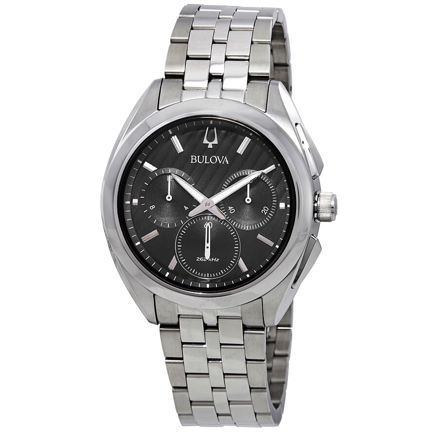 5f2cc4470 Bulova Curv Chronograph Black Dial Men's Watch 96A186 - Curv ...