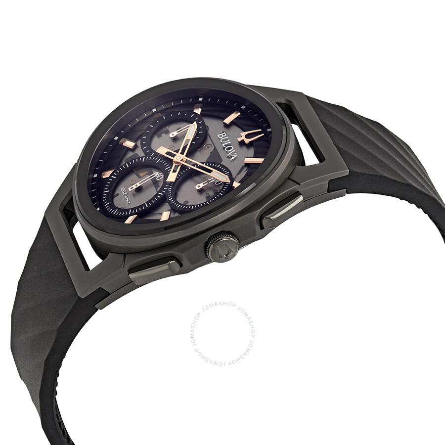 12c984c47 Bulova Curv Chronograph Dark Gray Dial Men's Watch 98A162 - Curv ...
