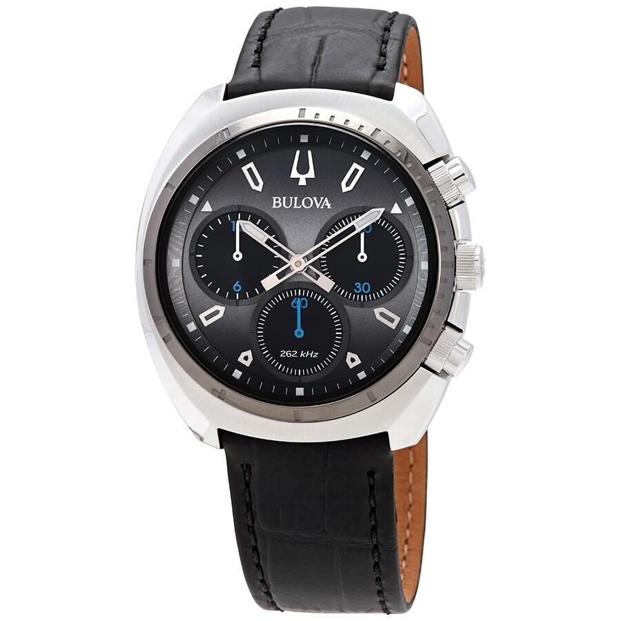 150b3d0f2 Bulova Curv Chronograph Dark Grey Dial Men's Watch 98A155 - Curv ...