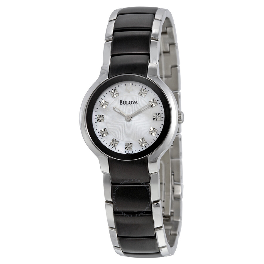Bulova diamond casual ladies watch 98p127 diamond bulova watches jomashop for Casual watches
