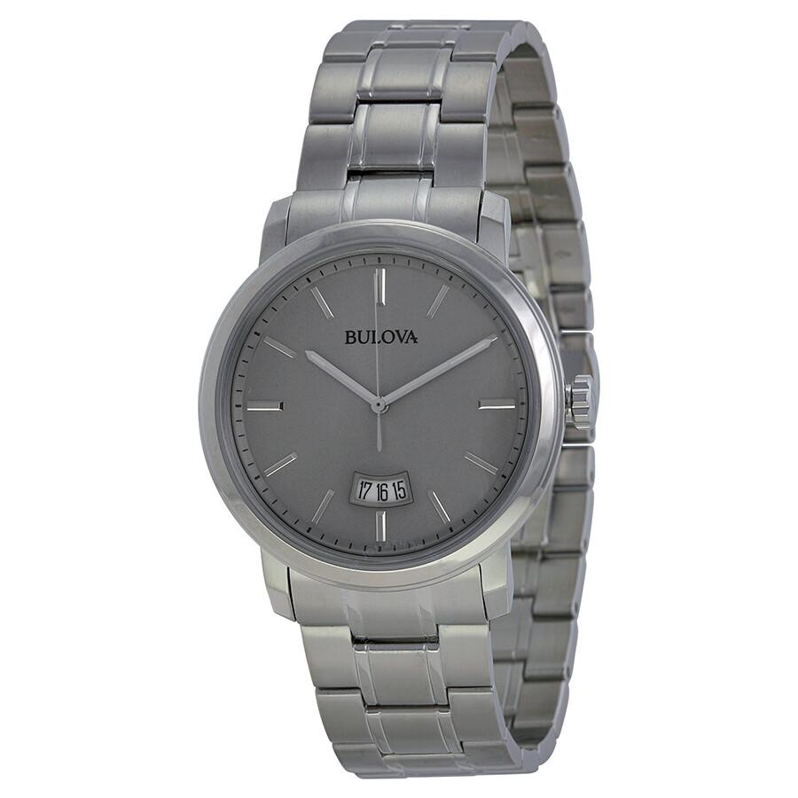 bulova dress grey dial stainless steel men s watch 96b200 dress bulova dress grey dial stainless steel men s watch 96b200