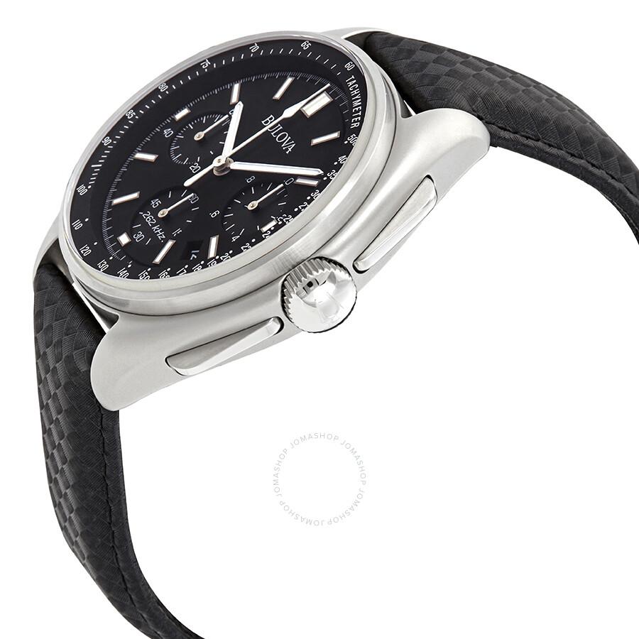 a91bcd874d2 ... Bulova Special Edition Moon Apollo Lunar Pilot Chronograph Black Dial  Men s Watch 96B251 ...