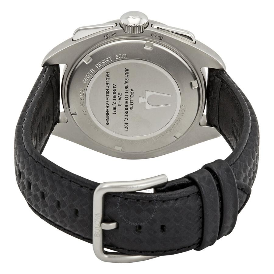 32390c0b198 ... Bulova Special Edition Moon Apollo Lunar Pilot Chronograph Black Dial  Men s Watch 96B251