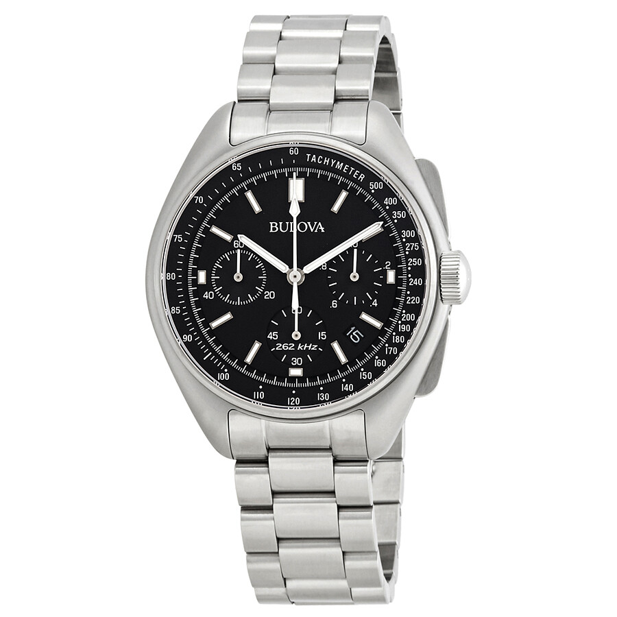 b24249f8423 Bulova Lunar Pilot Chronograph Black Dial Men s Watch 96B258 ...