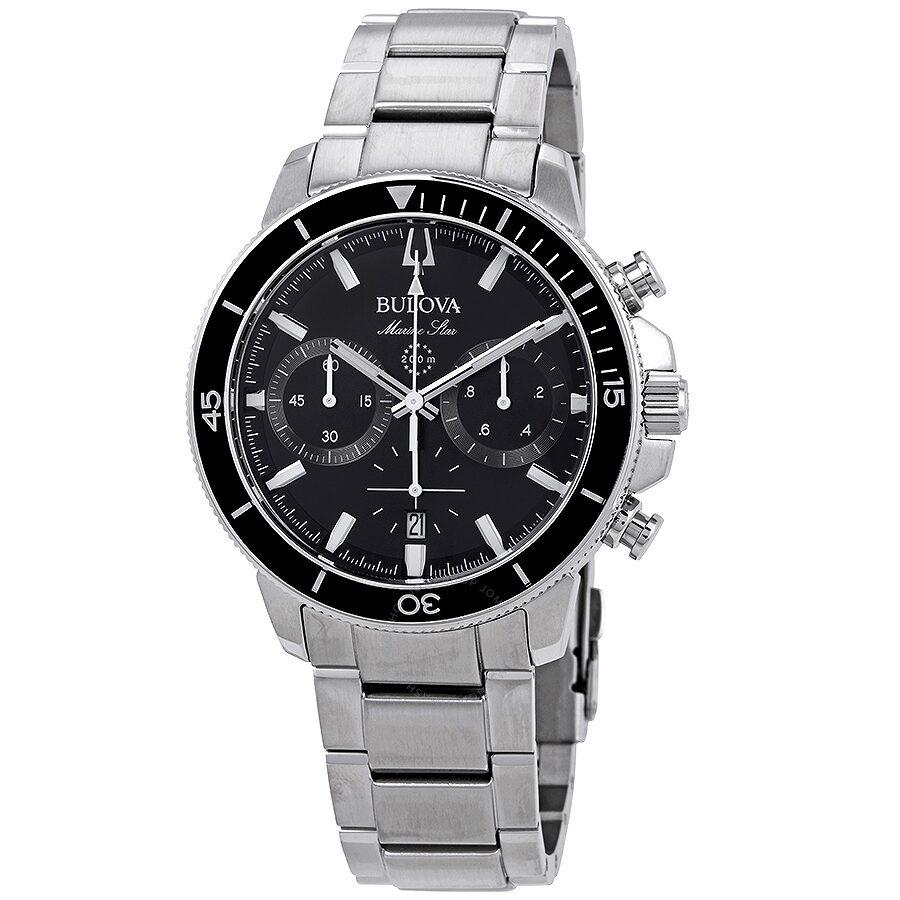 c4e38e37c Bulova Marine Star Chronograph Black Dial Men's Watch 96B272 ...