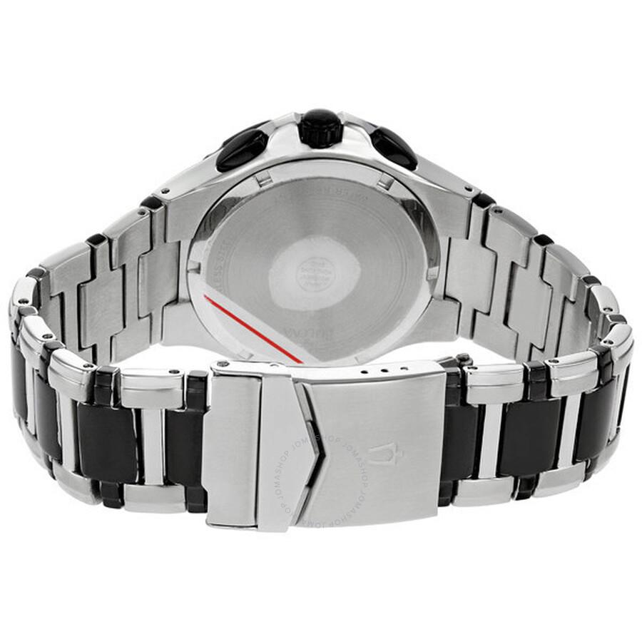 cea13042b ... Bulova Marine Star Chronograph Black Dial Two-tone Men's Watch 98B013