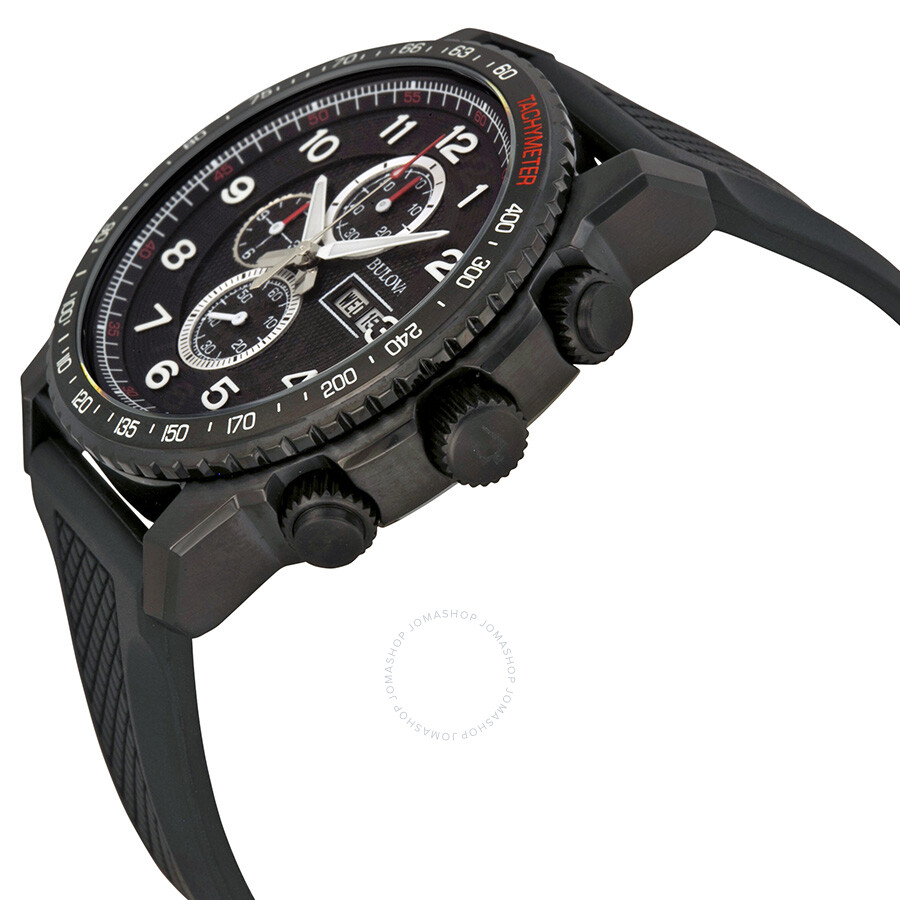 a2df4d50638 ... Bulova Marine Star Chronograph Black IP Stainless Steel Men s Watch  98C112 ...