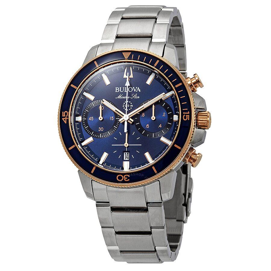 bd40d39e549 Bulova Marine Star Chronograph Blue Dial Men s Watch 98B301 - Marine ...