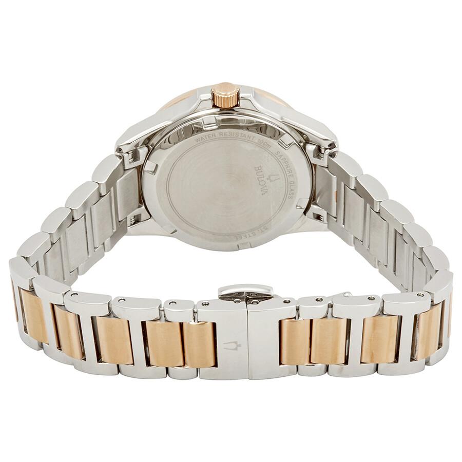 2d25afe81 ... Bulova Marine Star Diamond White Mother of Pearl Dial Ladies Watch  98R234
