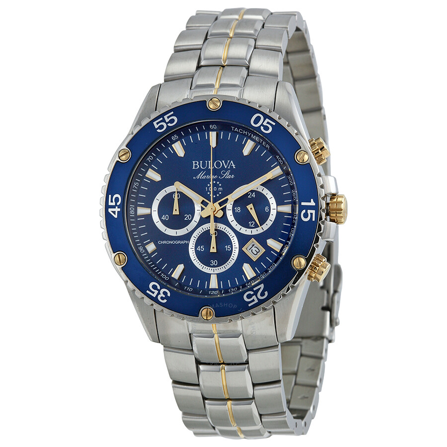 Bulova marine star men 39 s watch 98h37 marine star bulova watches jomashop for Watches bulova