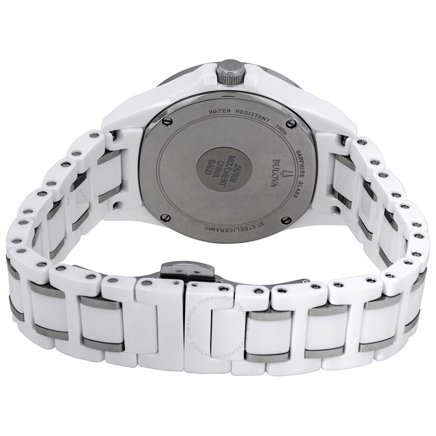 a9158f68a ... Bulova Marine Star Silver Mother of Pearl Diamond Dial Ladies Watch  98P172