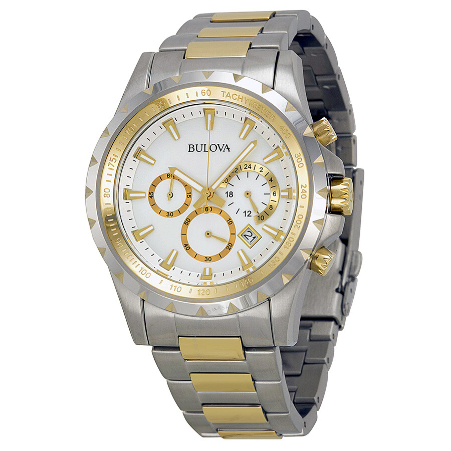 Bulova marine star two tone men 39 s watch 98b014 marine star bulova watches jomashop for Marine watches