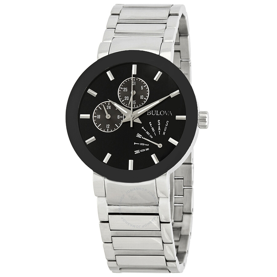 c7de58539596b Bulova Men s Black Dial Bracelet Watch 96C105 - Bracelet - Bulova ...
