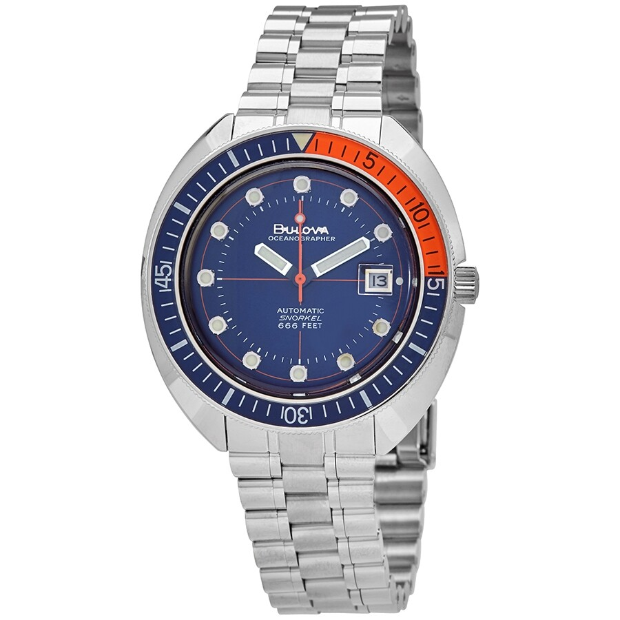 Oceanographer Automatic Blue Dial Men's Watch by Bulova