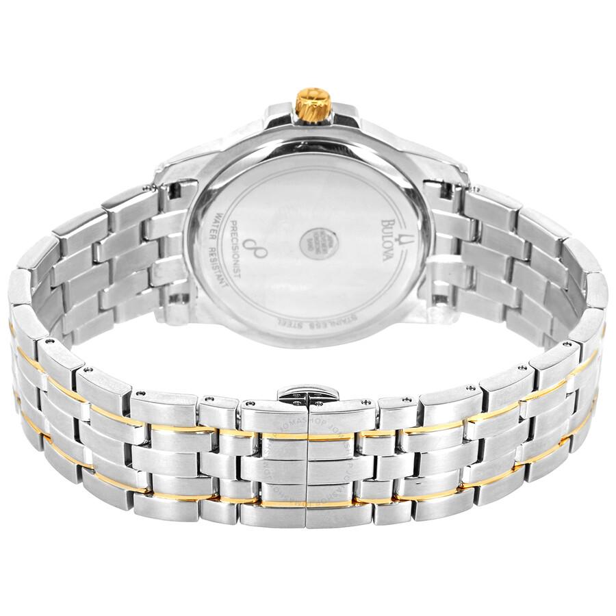 ... Bulova Precisionist Champagne Dial Two-tone Men's Watch 98B156 ...
