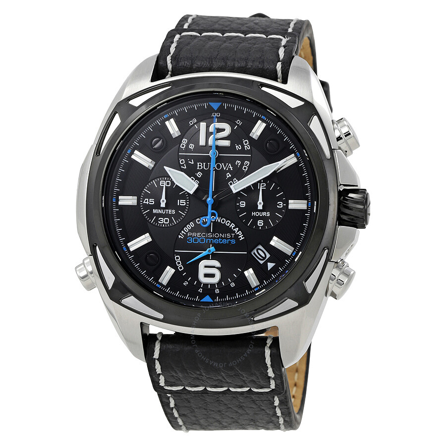 Bulova precisionist black dial men 39 s chronograph sports watch 98b226 precisionist bulova for Watches bulova