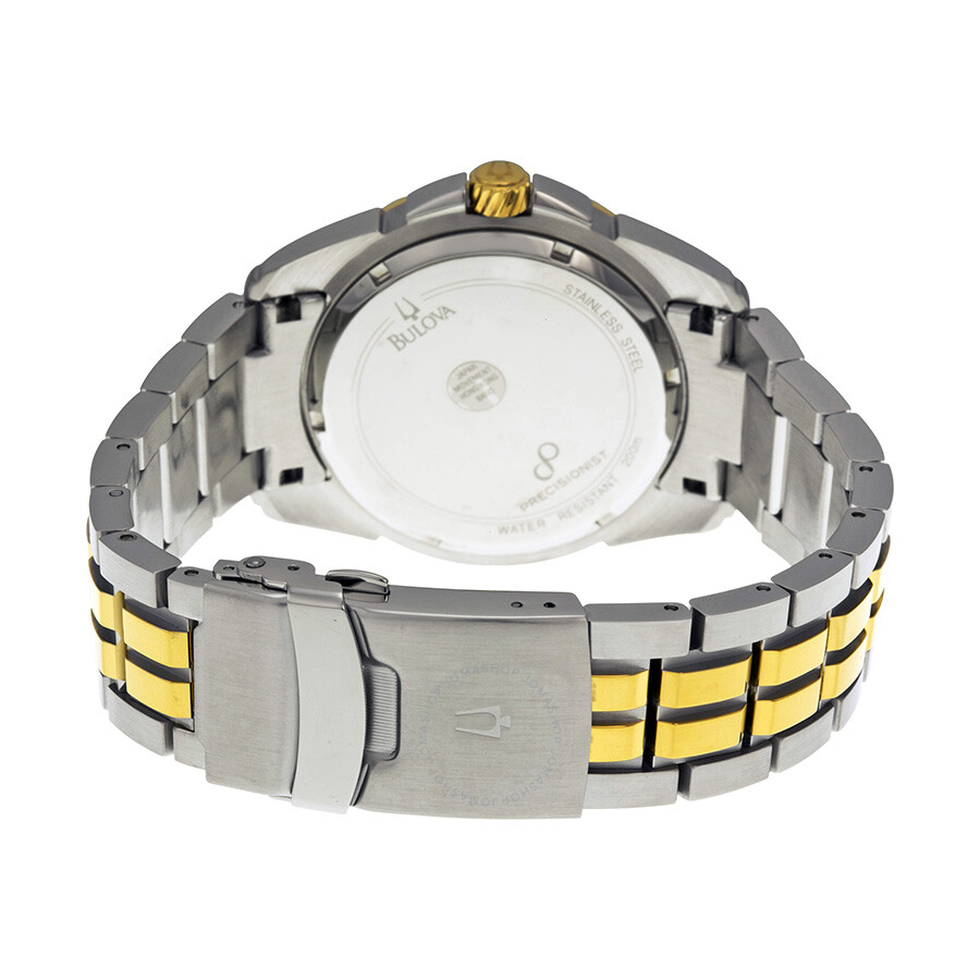 98fe2a628 ... Bulova Precisionist Silver Dial Two-tone Stainless Steel Men's Watch  98B169